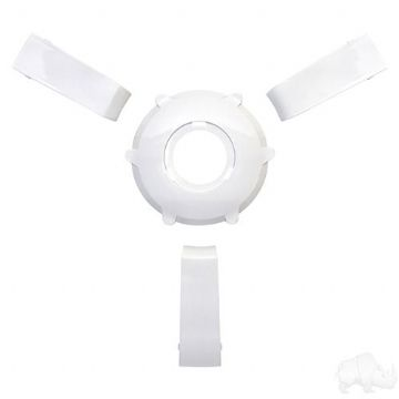 Giazza Steering Wheel Insert Kit, White